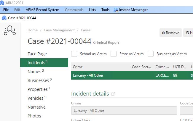 ARMS Case Management Cases